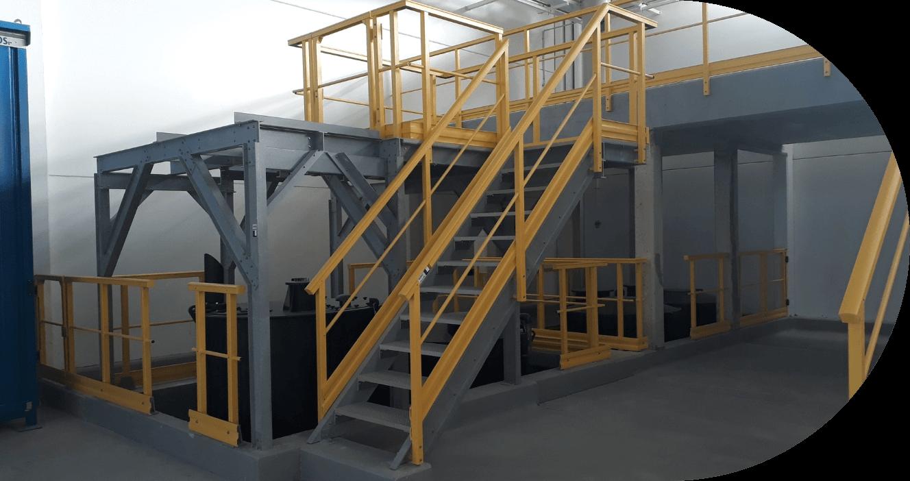 garde-corps industriel en polyester