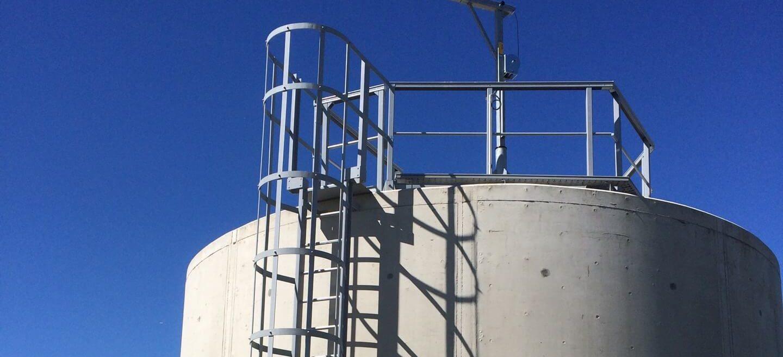 échelle à crinoline composite industrielle d'accès