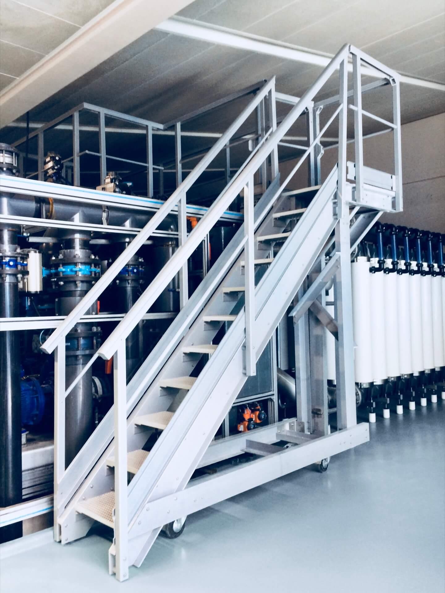 escalier composite sur roues