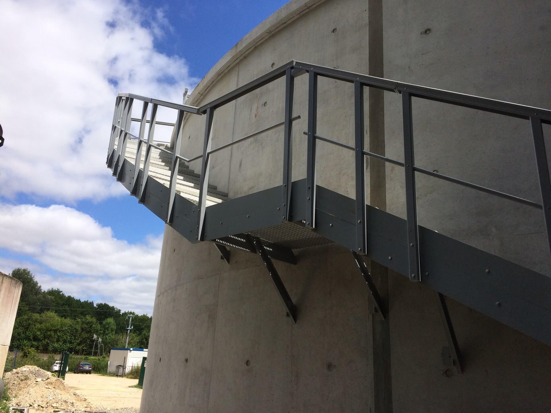 escalier composite circulaire
