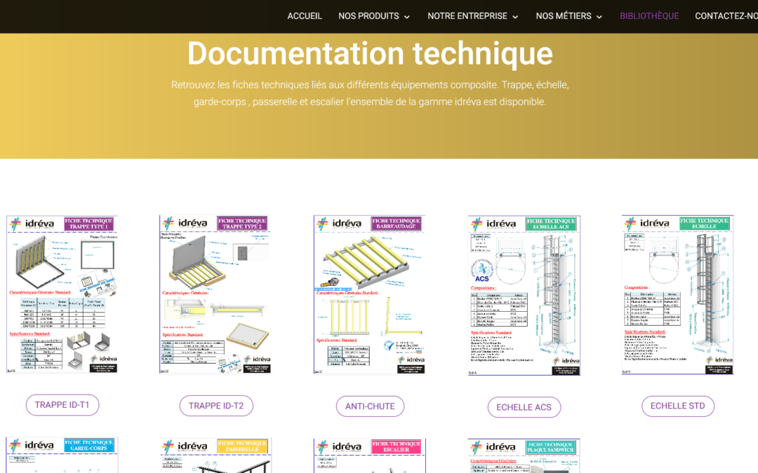 La bibliothèque produit Idréva – Un service en ligne pour nos clients