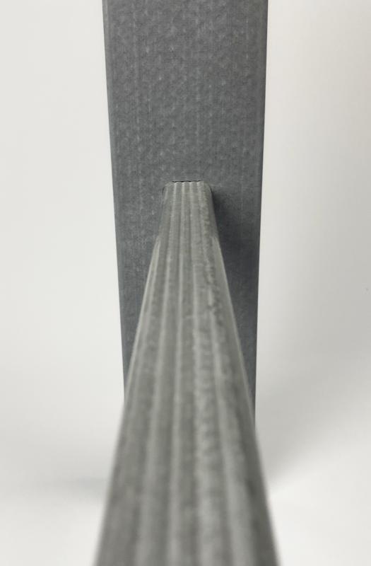 échelle à crinoline grise en composite idréva